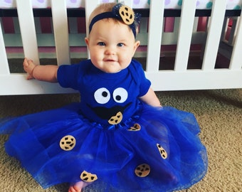 Baby cookie monster costume Baby Halloween costume Baby birthday costume girl  sc 1 st  Etsy : 11 month old halloween costumes  - Germanpascual.Com