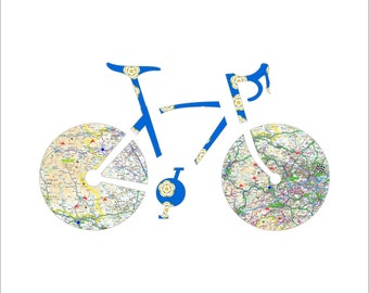 Tour de Yorkshire 2021 Gift for Cycling Fans. An exclusive souvenir of Tour de Yorkshire 2021 featuring maps of Stages 2, 3 & 4 with climbs