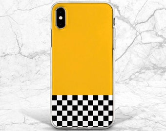 Mustard Yellow And White Checkerboard Pattern iPhone 11 case