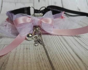 Ballerina Pink Tutu Collar Choker Kitten Play