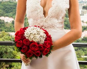 Garofano- Isabella Jewelry Bouquet - Brooch Bouquet