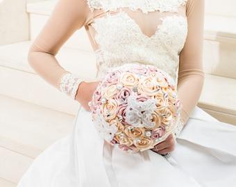Garofano- Romina Jewelry Bouquet- Brooch Bouquet