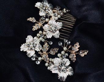 GAROFANO- Bridal Hairpieces- Two Pieces