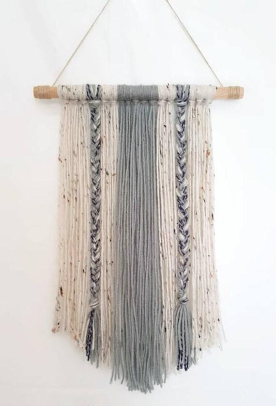 Boho Yarn Wall Hanging-Decor-Wall Decor-Dorm | Etsy