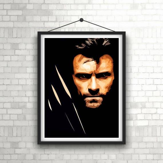 Wolverine Logan Movie Poster Jackman X-Men 2017 Film CHOOSE YOUR SIZE FREE P+P