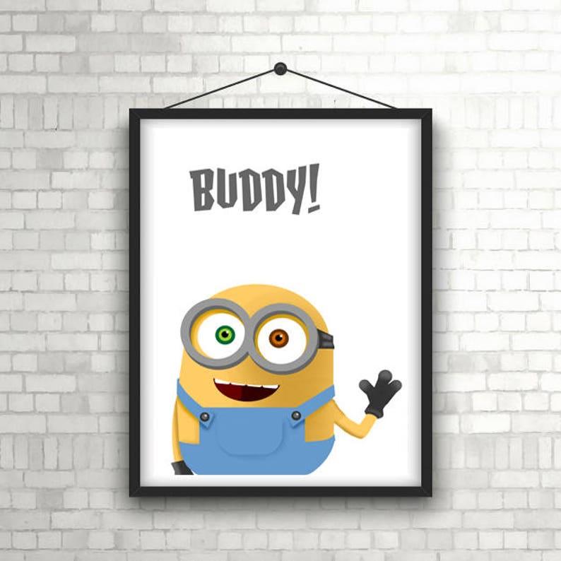 Bob the Minion Poster Art Print A0 A1 A2 A3 A4 Sizes