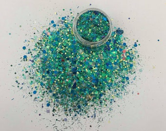 Turquoise Face Glitter
