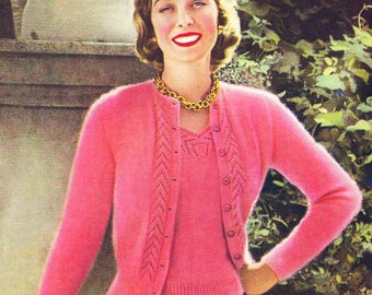 Lady's Cardigan / Jackets  / The Cardigan For Glamorous Evenings/ Instant Pdf Digital Download Vintage Knitting Pattern - 118