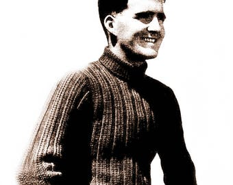 Sweater for Mens/Mens Knit Sweater Pattern/ 3- Size/- Instant PDF Digital Download Vintage Knitting Pattern - 846