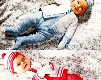 PDF Pattern  for Baby / Baby Set Knit/ Coat, Leggings, Mitts, Hat / Newborn/Knitting Pattern- 720