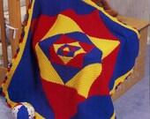 PDF Crochet Pattern Baby Blanket Kaleidoscope 45 x 45 in. Instant PDF Digital Download Vintage Crochet Pattern- B197