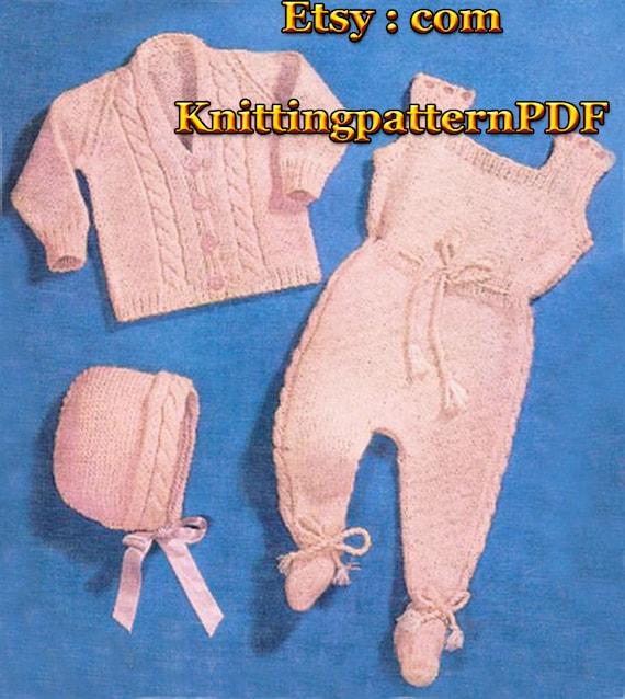 Instant Download Baby Cardigan Leggings Bonnet Vintage Etsy