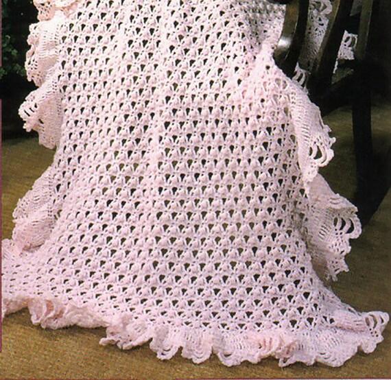 Pdf Crochet Pattern Baby Shawl Lace Baby Shawlbaby Blanket Etsy