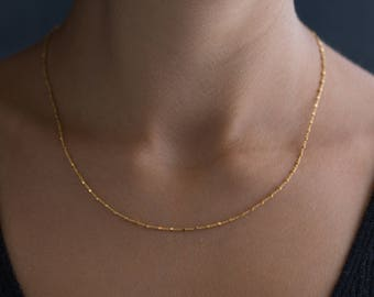 Dainty Chain Choker - Simple Gold Choker - Layering Necklace - Wrap Choker Necklace - Dainty Jewelry - Delicate Gold Choker