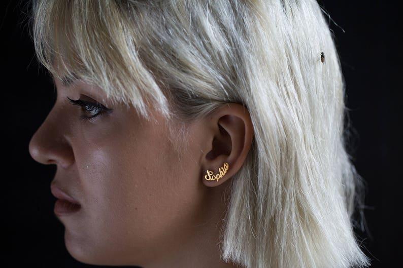 Name Earring  Personalized Earring  Personalized Jewelery  image 0