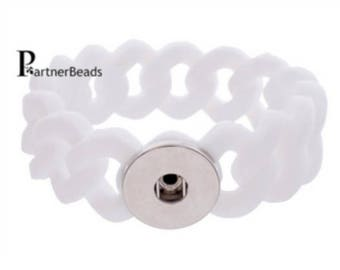 1 white snap bracelet