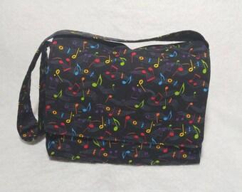 Music messenger bag, toddler messenger bag, kids messenger bag, travel baby bag, small music purse, baby diaper bag, baby shower gift