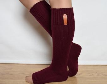 Green-Brown Jasper Sandals Bed Pedicure Hand Knit Leg warmers Toeless Socks House Flip Flop Spa Fashion