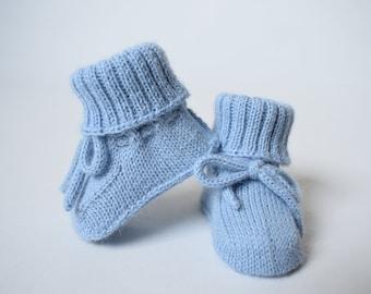 b5b257eefd654 WOOL ALPACA knitted warm long socks for kid baby booties crib | Etsy