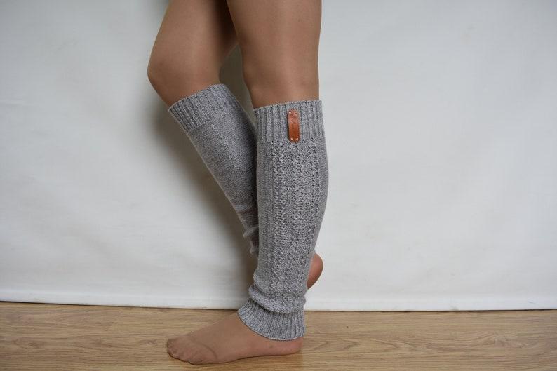 eab634e83 WOOL ALPACA knitted leg warmers warm long dance socks sport