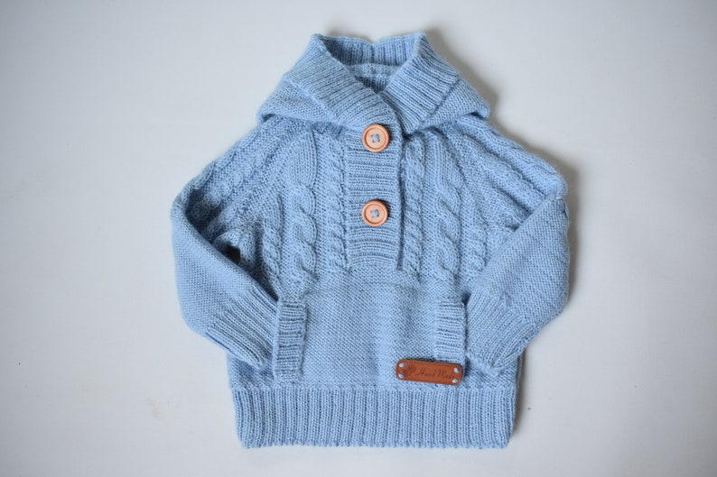 86f0d6046c84 WOOL ALPACA knitted sweater for kid warm jumper cardigan with