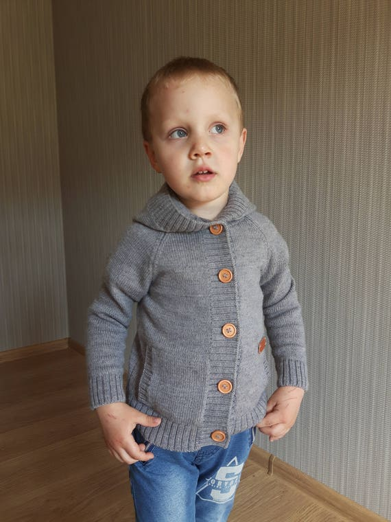 f70cd73283f1 WOOL ALPACA knitted winter cardigan for kid warm sweater with