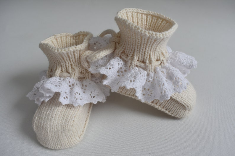 7c653dfecf84e COTTON knitted organic baby booties with laces socks for newborn shoes for  crib newborn gift boy girl black white blue pink