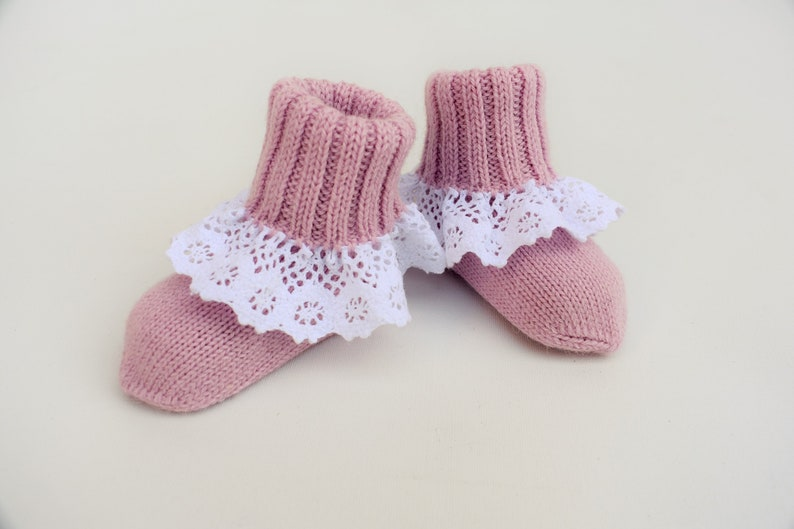 0c6aeefdc27b9 WOOL ALPACA knitted winter long socks for kid warm baby booties crib shoes  newborn gift baby shower girl boy toddler infant pink white blue