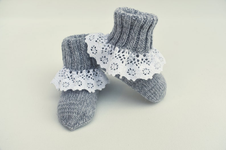 09686375ed2db WOOL ALPACA knitted warm long socks for kid baby booties crib shoes newborn  gift baby shower girl boy toddler infant pink white blue