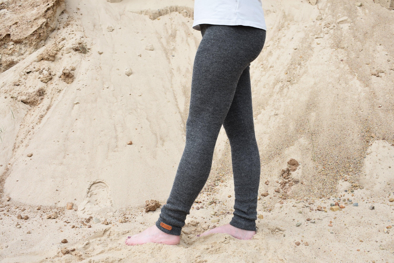 02292e1dbb1d5 WOOL ALPACA knitted warm leggings for women skinny pants | Etsy