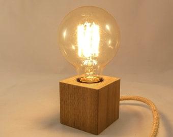 Raw wooden lamp