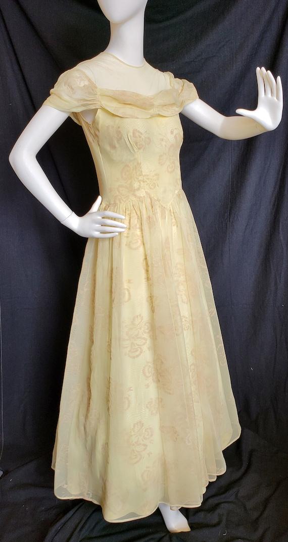 1930's Golden Irresistible IRIS Formal and Gauntl… - image 4