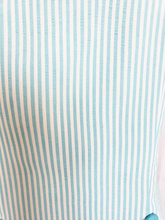 Daisies & Seersucker Summertime Day Dress  1960's - image 7