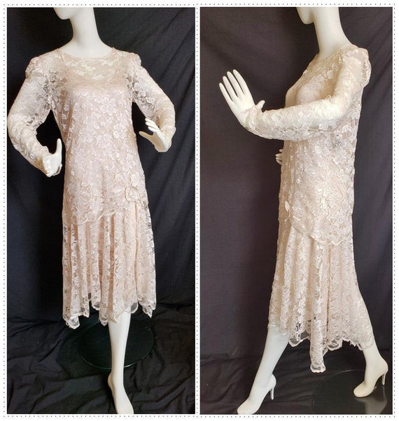 Roaring 20's Lace Flapper Dress