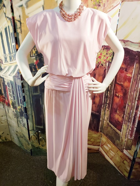 PRETTY in PINK 1940's Style Dress