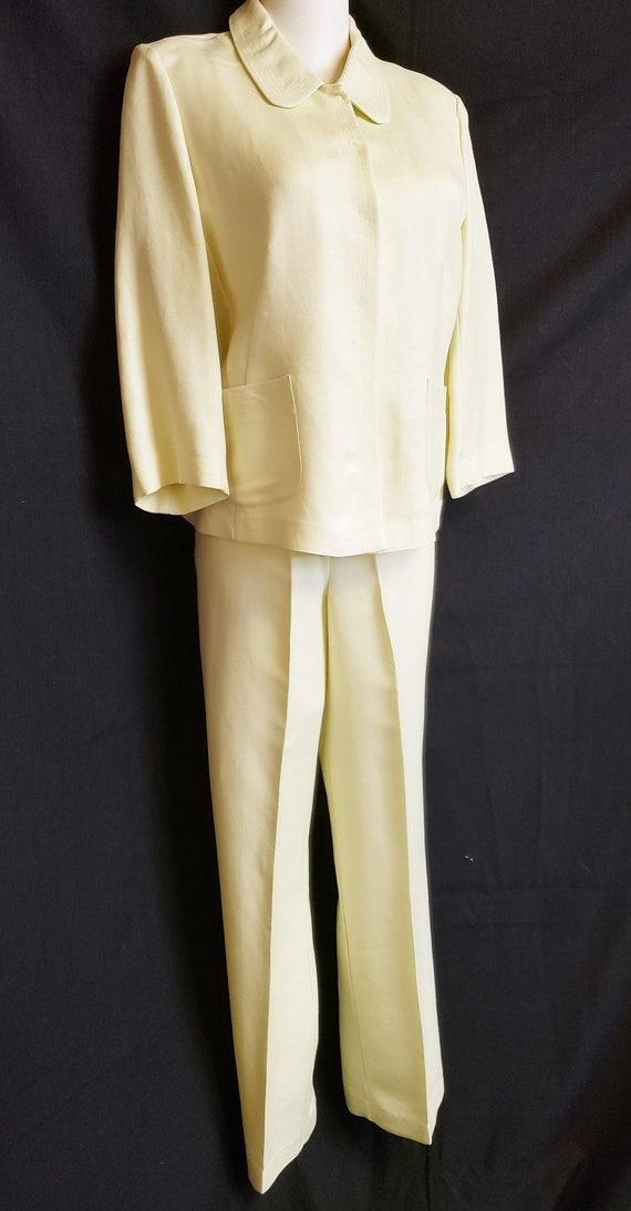 Linen Lime-Light Emma James Pant Suit - Mid-Centu… - image 5