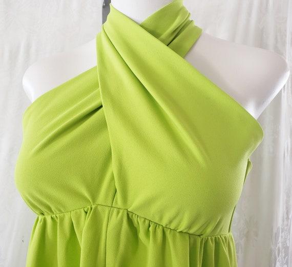 Chartreuse Summer MAXI Dress  1960's - image 2