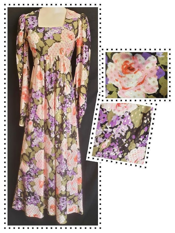 1960's PECK & PECK Flower-Child Maxi Dress