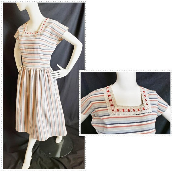 1930's - 40's Homemade-Farmhouse Dress