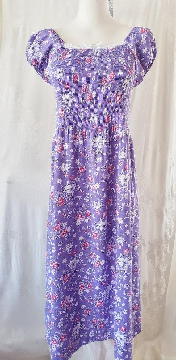 Flower-Power Mod MAXI 1970's Dress