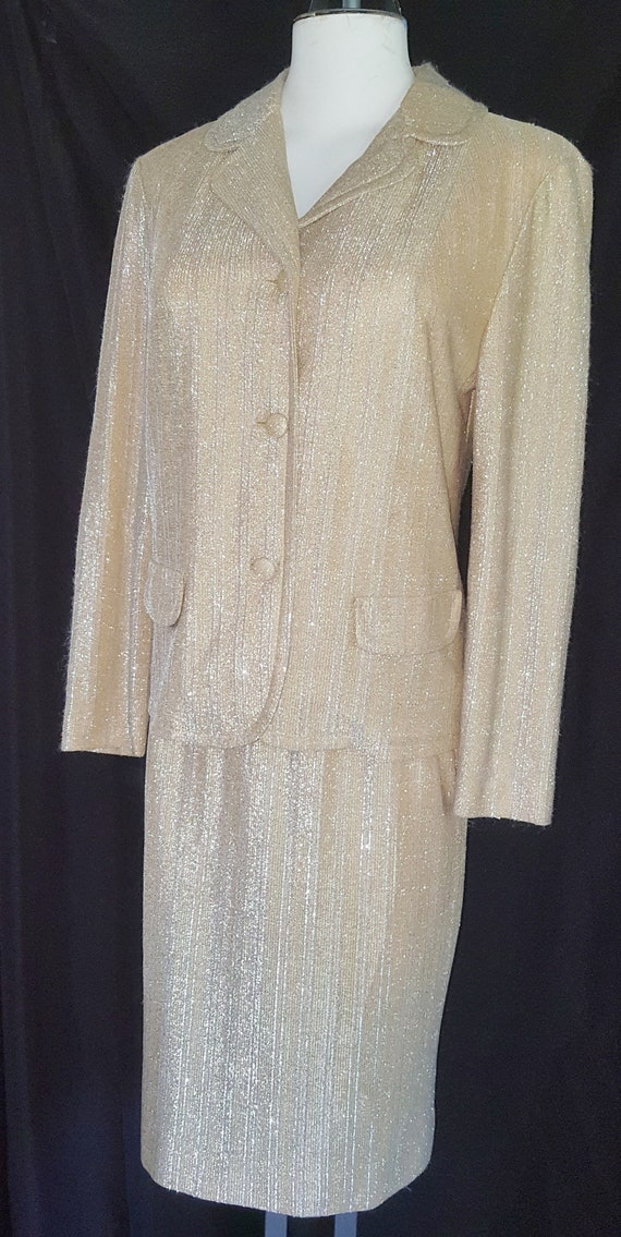 Gold Lamé Holiday Suit  1960's