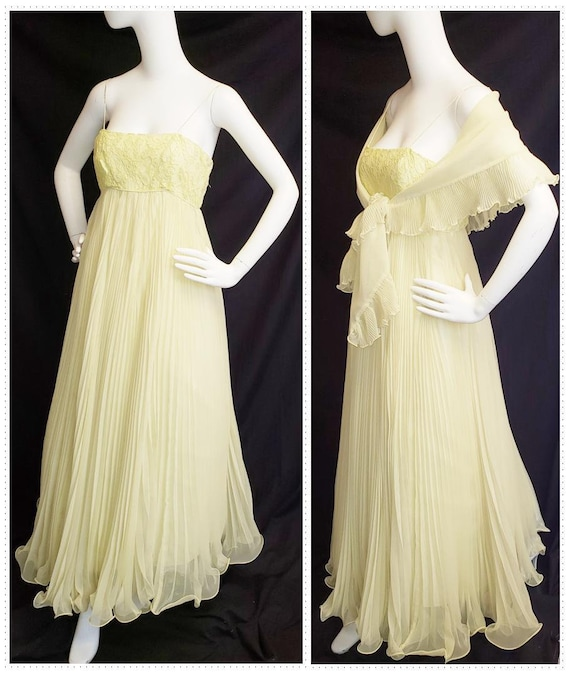 Miss Elliette Elegant Gown and Shawl, 1960's