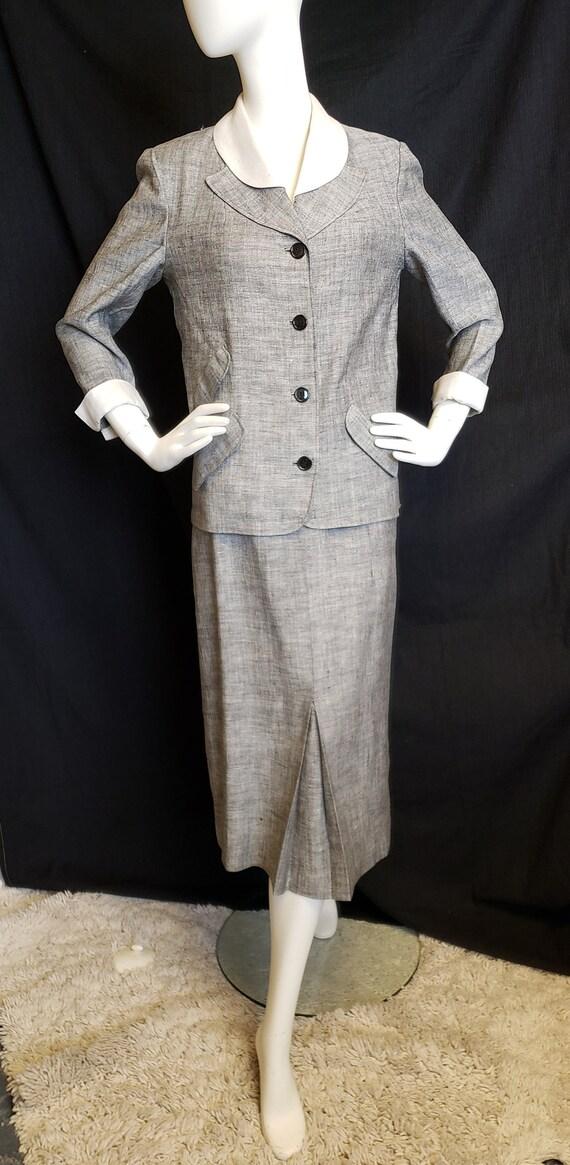 Irish Linen Ladies Suit - Mid-Century  1950's - image 1