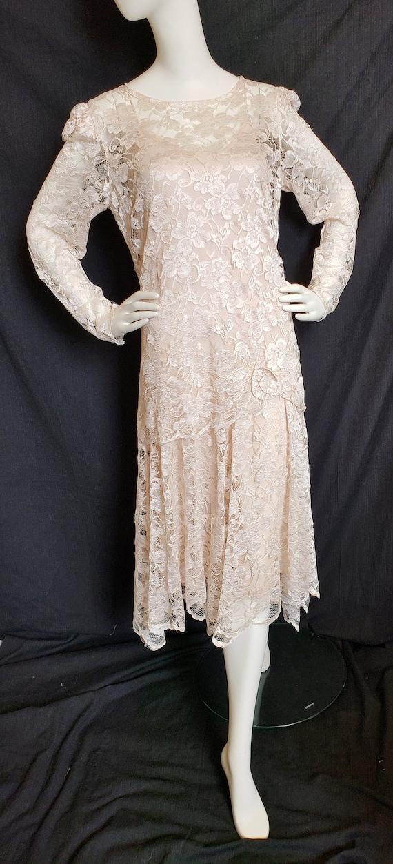 Roaring 20's Lace Flapper Dress - image 8