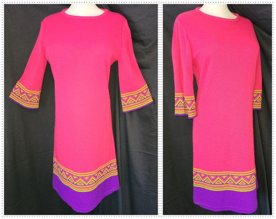 1970's GROOOOVY Sweater Dress