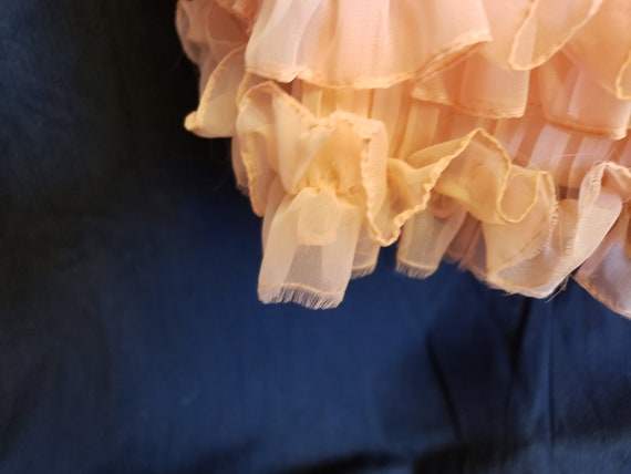 Ruffles & Pleats a'Plenty Peach Gown - image 7