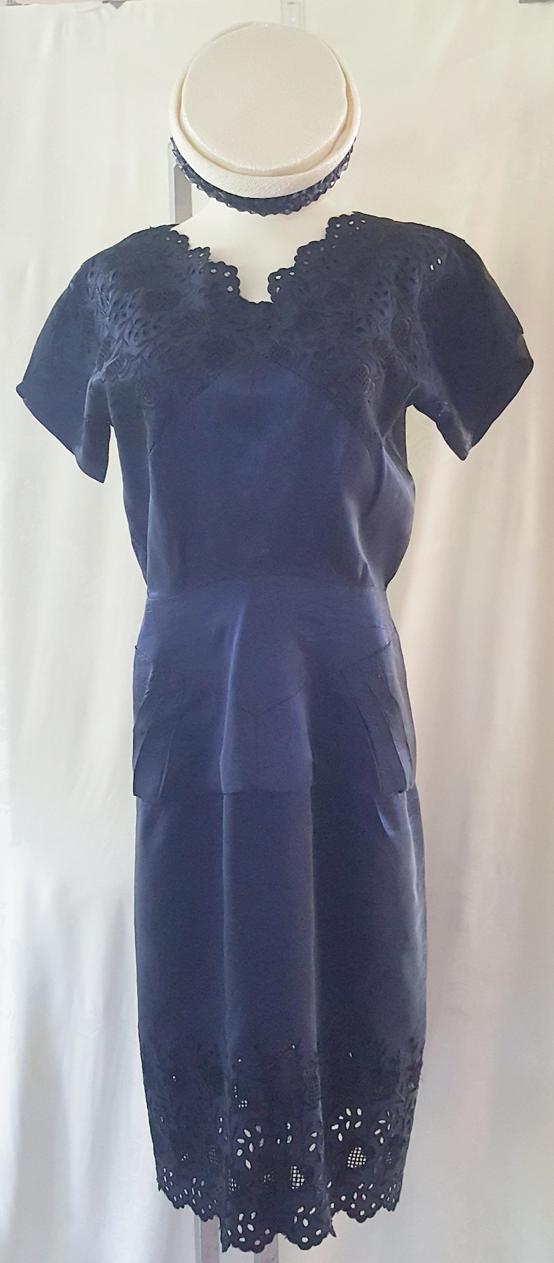 500 Vintage Style Dresses for Sale | Vintage Inspired Dresses 50s MIDNIGHT Blue DELIGHT!! 1940s - 50s  SophisticatedLaRue $118.00 AT vintagedancer.com