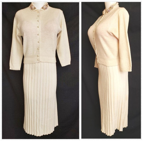 BEJEWELED 'Kimberly' 1940's Sweater Set