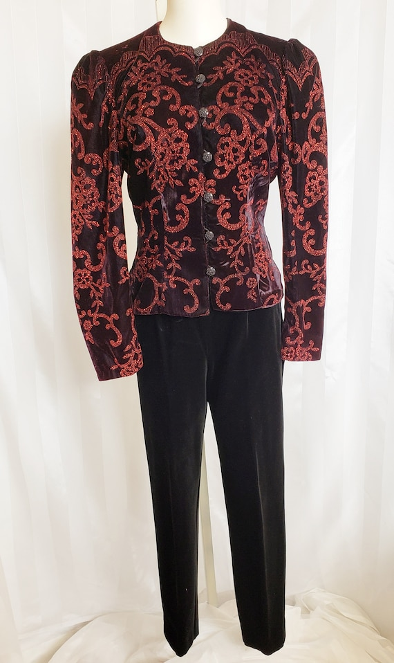 Scott McClintock Snazzy Velvet Jacket & Slacks  19