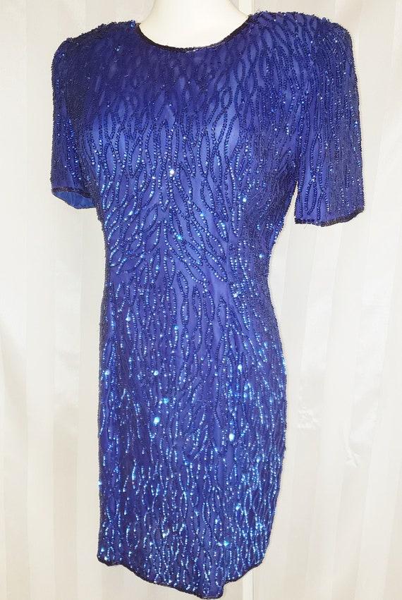 COBALT Razzle, Dazzle, Snazzy Sheath Dress  1960's